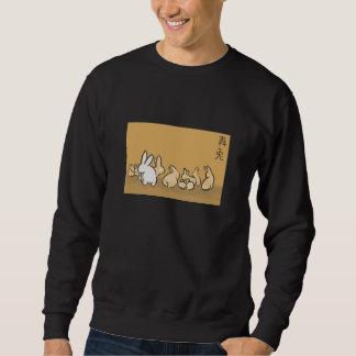 ten bunnies leaping-lords sweatshirt