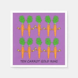 Ten Carrot Gold Ring Paper Napkin