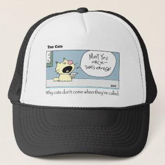 Ten Cats-c-harrop Trucker Hat