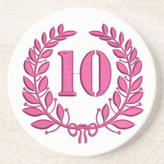 ten celebration imitation embroidery coaster