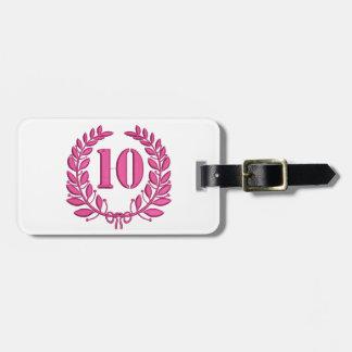 ten celebration imitation embroidery luggage tag