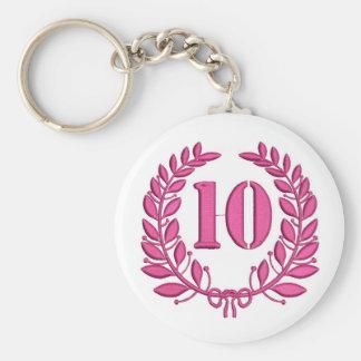 ten celebration key ring