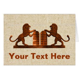 Ten Commandments and Lions Card