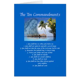 Ten Commandments Card