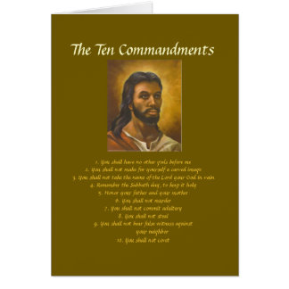 Ten Commandments Card
