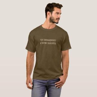 Ten Commandments of Dating Daughters T-Shirt