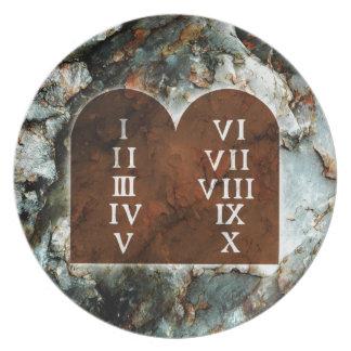 Ten Commandments Party Plates