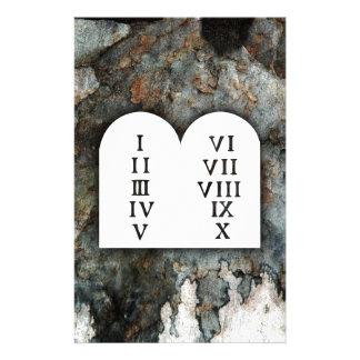 Ten Commandments Stationery