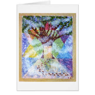 Ten Commandments Tree of Life Card