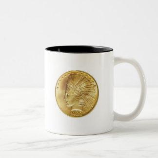 Ten Dollar Gold Indian Coffee Mug