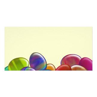 Ten Easter Eggs Rainbow Photo Card Template