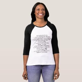 Ten facts womens tshirt