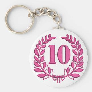 ten laurels - jubilee, imitation of embroidery key ring