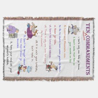 Ten Minnesota Commandments Throw Blanket