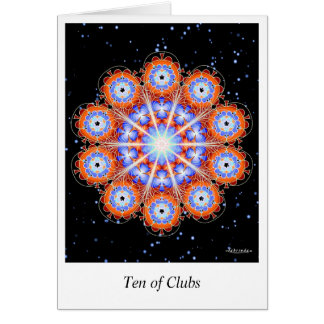 Ten of Clubs Card