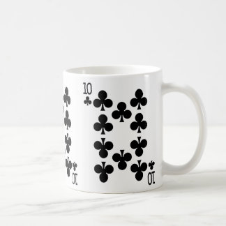 Ten of Clubs Playing Card Coffee Mug