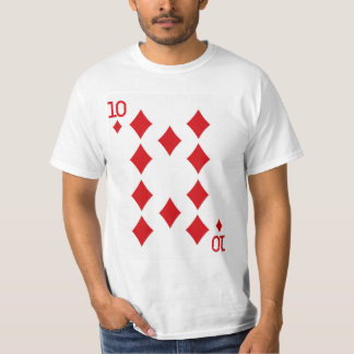 Ten of Diamonds Playing Card T-Shirt