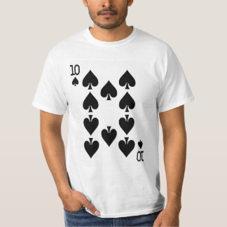 Ten of Spades Playing Card T-Shirt
