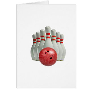 """Ten Pin Bowling 1"" design gifts and products Card"