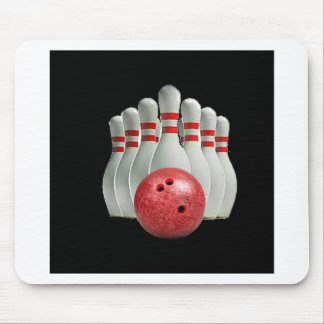 """""""Ten pin bowling 2"""" design gifts and products Mousepads"""