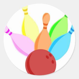 Ten Pin Bowling Classic Round Sticker