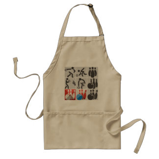 Ten Pin Bowling Icons Apron
