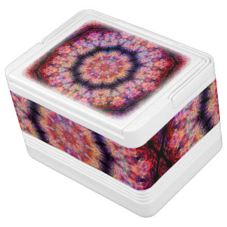 Ten Pointed Radial Colorful Kaleidoscope Cooler