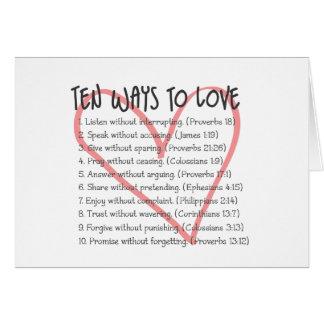 Ten Ways to Love Card