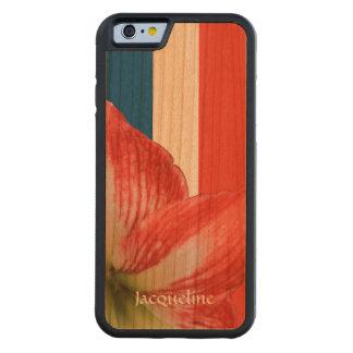 Tenacious Amaryllis On French Flag Custom Handmade Cherry iPhone 6 Bumper Case