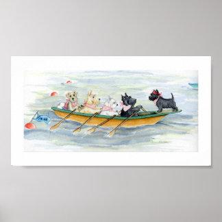 Tenacious Terrier Rowing Team Poster