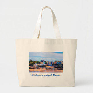 Tenby Wales Walled Seaside Town Large Tote Bag