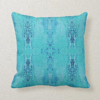 'Tendency' Teal Pattern Throw Pillow