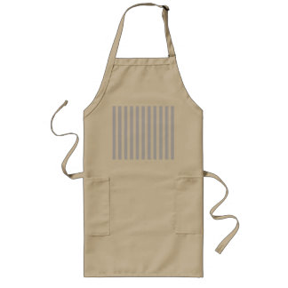 Tender Baby Blue Pale Sky Blue and White Stripe Long Apron