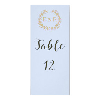 Tender Baby Blue Pale Sky Pastel Blue Wreath/Sprig Card