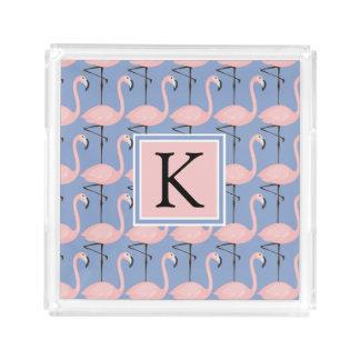 Tender Flamingo Pattern | Monogram
