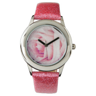 tender rose pink petals watches