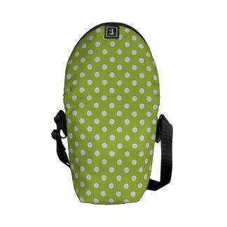 Tender Shoots Green Polka Dot Pattern Commuter Bags