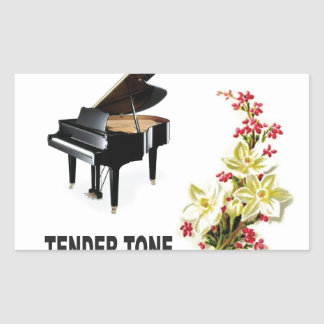tender tone display rectangular sticker