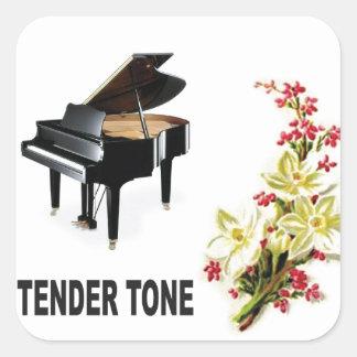 tender tone display square sticker