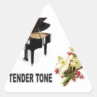 tender tone display triangle sticker