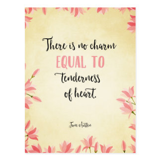 Tenderness of heart postcard