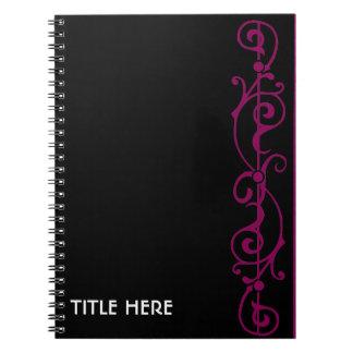 Tendrillon Ebony (Red-Violet) Notebook