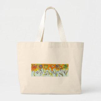 tendrils large tote bag