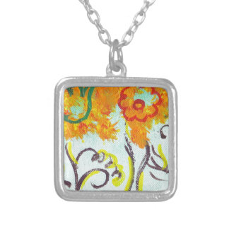 tendrils silver plated necklace