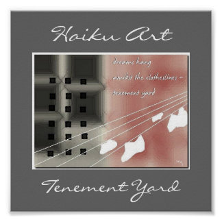 Tenement Yard Haiku Art Print
