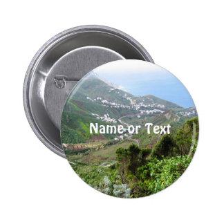 Tenerife 10 6 cm round badge