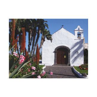 Tenerife church canvas print