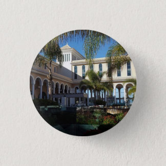 Tenerife Hotel and Palm Trees Button Badge