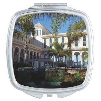 Tenerife Hotel and Palm Trees Compact Mirror