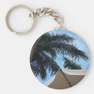 Tenerife Palm Tree Button Key Ring